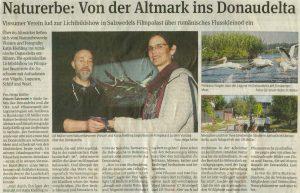 Beitrag Volksstimme: Vortrag Donaudelta